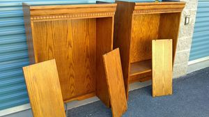 Tiger Oak Style Counter Top Shelves Qty. 2 for Sale in Grants Pass, OR