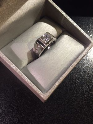 Unisex- Stamped 925 Sterling Silver Engagement/ Wedding Ring for Sale in Houston, TX