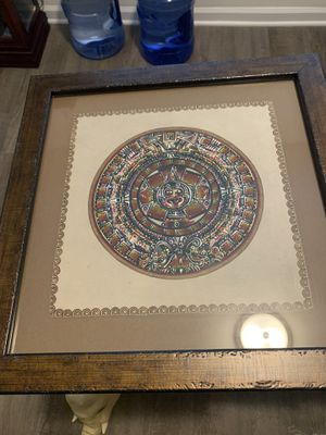 Framed leather Aztec calendar for Sale in Holly Springs, NC