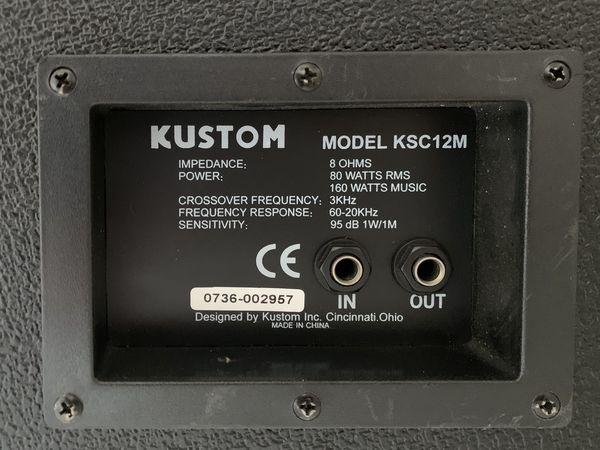 """Kustom KPC12M 12"""" Monitor Speaker Cabinet with Horn"""