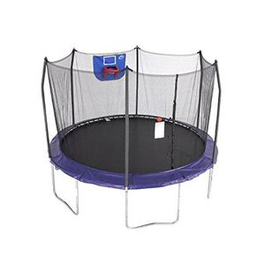 Skywalker Trampolines 12-Feet Jump N' Dunk Trampoline with Safety Enclosure and Basketball Hoop for Sale in Houston, TX