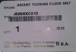 Suburu Ascent Touring Floor Mats NEW for Sale in Seattle, WA