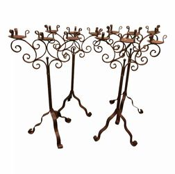 Vintage Iron Candelabras - Pair for Sale in Los Angeles,  CA