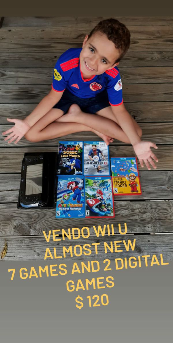 Wii U 5 games and 2 digitals games, and extra control for Mario car