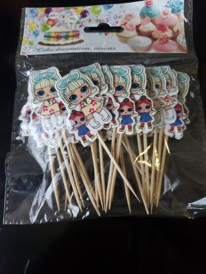 LOL dolls cupcake toppers 24pcs lol dolls decorations for Sale in Bellflower, CA