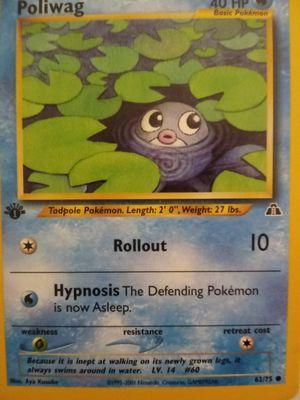 1995 Pokemon card POLIWAG see description for Sale in Phoenix, AZ