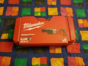 New Milwaukee 15 Amp 1-1/4 in. Stroke Orbital SUPER SAWZALL Reciprocating Saw with Hard Case for Sale in Renton, WA