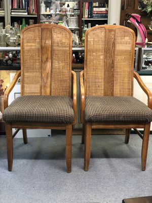 Set of wooden upholstery chairs for Sale in Garland, TX