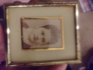 Antique 2.5 x 3 gold.framed mini portrait of a lady Nellie Gibsons May 13 1868 151 yrs ago...wow!!! for Sale in Long Beach, CA