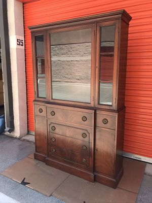 Antique... china cabinet with middle drawer that turns into a table for Sale in San Jose, CA