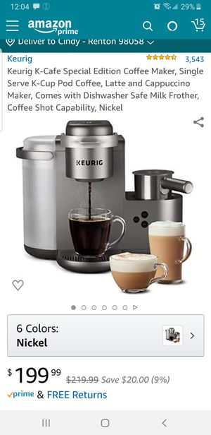 KEURIG K-CAFE SPECAIL EDITION for Sale in Renton, WA