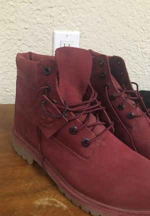 Men's red timberland boots for Sale in Oakley, CA
