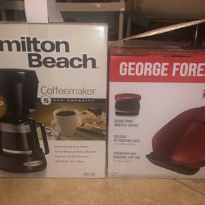Coffee Maker and Foreman Grill for Sale in Fort Lauderdale, FL