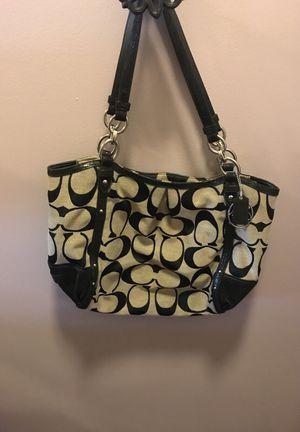 Coach Black/Grey Signature Tote Shoulder Bag for Sale in Nashville, TN