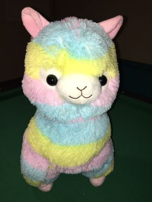 """Rainbow"" BIG stuffed animal with tags - Official Amuse Brand Alpacasso for Sale in Rockville, MD"