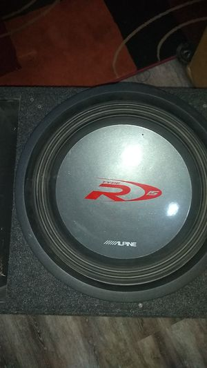 """15"""" Alpine Type R DUAL Voice Coil Subwoofer W/BOX for Sale in Davenport, IA"""