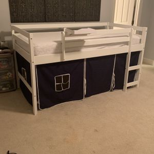Twin Loft Bed With Slide , White for Sale in Cary, NC