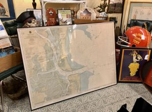 Framed Georgia-Florida Nautical Chart for Sale in Savannah, GA