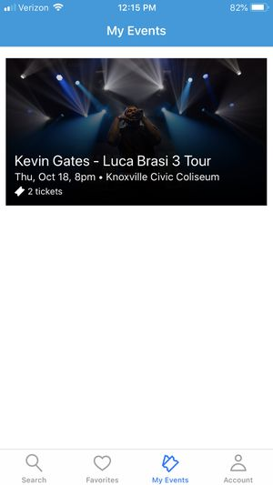 2 floor tickets to the Kevin Gates concert for Sale in Morristown, TN