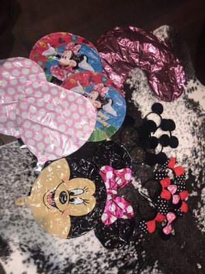 Minnie Mouse party balloons and head pieces for Sale in Battle Ground, WA