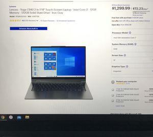 "Lenovo Yoga C940 2-in-1 14"" Touch-Screen Laptop - Intel Core i7 for Sale in San Marcos, TX"