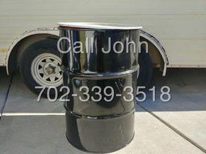 55 Gallon Steel Burn barrels with removable lids for Sale in Las Vegas, NV