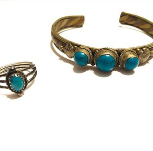 Turquoise Ring and Cuff Bundle for Sale in Hinesville, GA