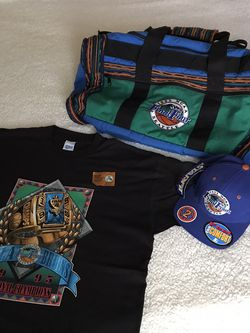 Vintage 1995 NCAA Final Four Seattle LOT - UCLA 95 Champions t Shirt Dead stock - Duffle Bag - STARTER hat NWT for Sale in Edgewood,  WA