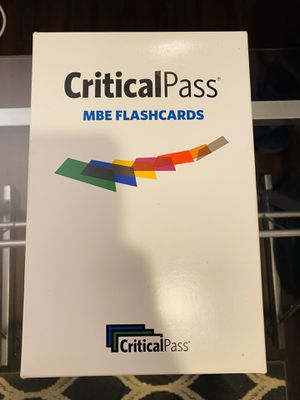 Critical Pass MBE Flashcards for Sale in Fontana, CA