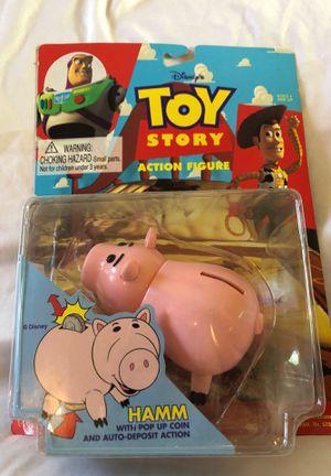 Original 1995 Toy Story Hamm Action Figure, Disney Toys for Sale in Menifee, CA