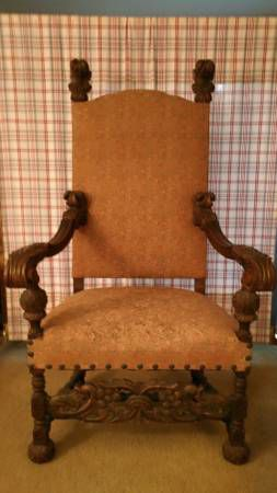 Antique High Back Arm Chair for Sale in Alexandria, VA