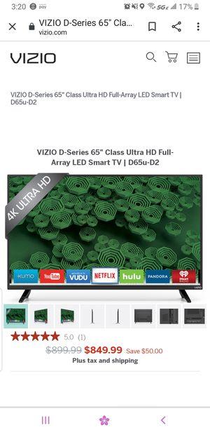 Vizio 65 inch smart 4k tv for Sale in Indianapolis, IN