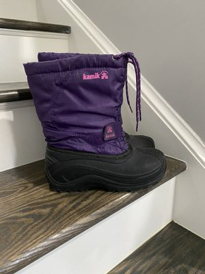 Kamik big kids size 5 snow winter boots for Sale in VA, US