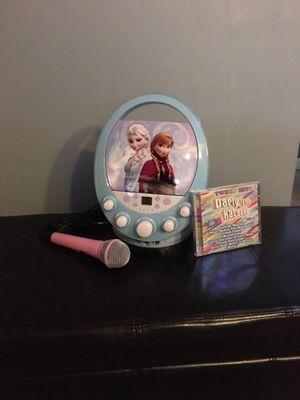 Disney Frozen Elsa & Anna CD/Karaoke Machine for Sale in Lynnwood, WA