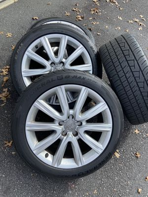 Wheels Audi WV 5x112 with tires 245/45/18 OEM Audi rims for Sale in Charlotte, NC