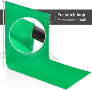 (NEW) $35 - 9 x 15 ft. Green Chromakey Muslin Backdrop Background Screen for Photo Video Studio, 3 x Backdrop Clamp for Sale in Pomona, CA
