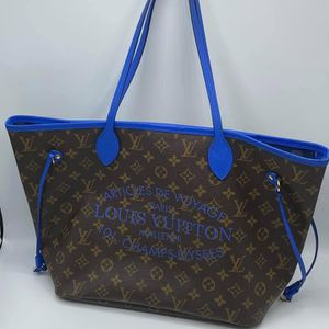 Louis Vuitton *Limited Edition* Neverfull MM Monogram IKAT Flower Blue Tote Bag for Sale in West Bloomfield Township, MI