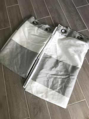 2 grommet style floor length curtains for Sale in Port St. Lucie, FL