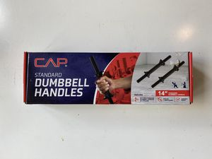 "CAP Standard Dumbbell Handles 14"" Threaded 4 Lock Collars (1 SET) FAST SHIPPING for Sale in Bellevue, WA"