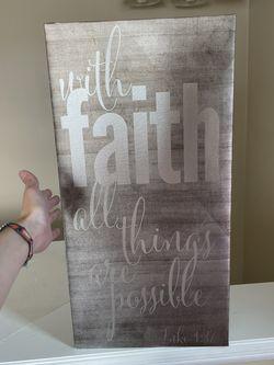 Scripture Wall Decor for Sale in Fairmont,  WV