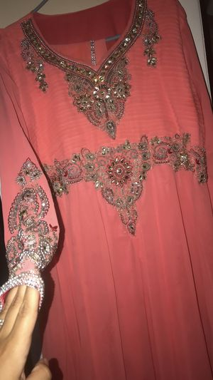 Coral beaded dress abaya for Sale for sale  Woodland Park, NJ