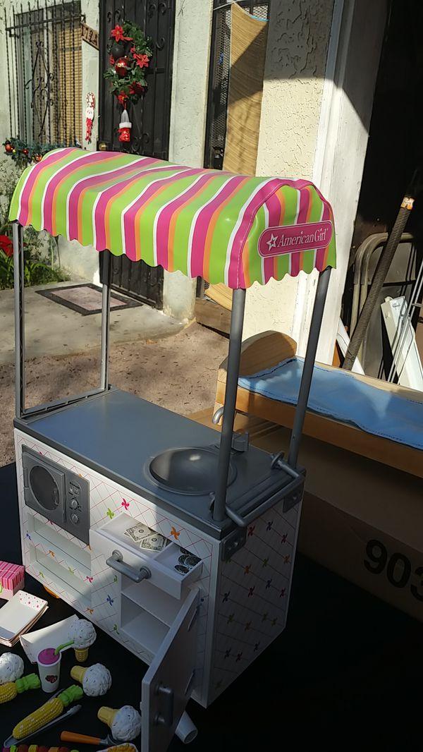 American girl ice cream cart