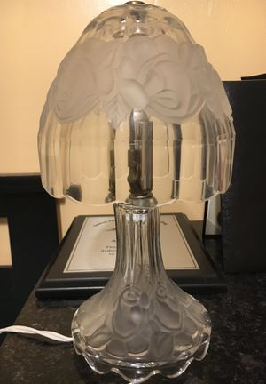 Old antique glass flowered lamp,Very old and very sentimental to me but willing to give it up for 80$ for Sale in Central Falls, RI