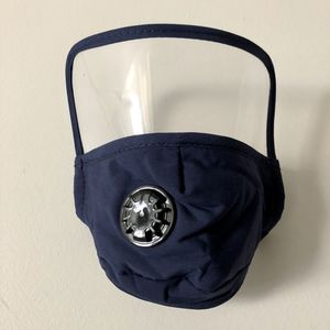 New Navy Blue Face Mask With Shield and Valve for Sale in Fort Washington, MD