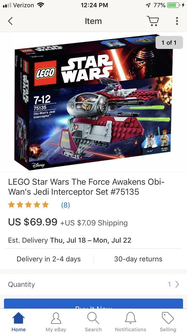 LEGO Star Wars The Force Awakens Obi-Wan's Jedi Interceptor Set #75135 SEALED