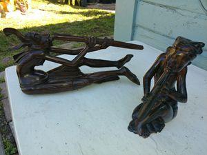 Vintage tigerwood bali carved musicians for Sale in Pompano Beach, FL