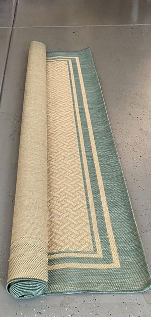 Naples Indoor / Outdoor Ace Teal Boarder with Sand Oasis center - (8X10) BRAND NEW for Sale in Glendale, AZ