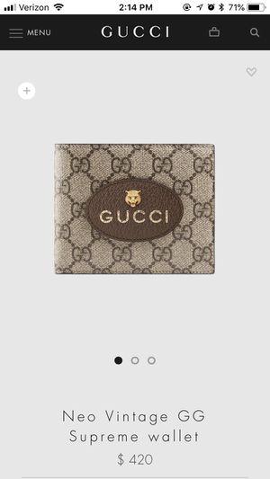 GUCCI Neo Vintage GG Supreme wallet for Sale in Sayreville, NJ