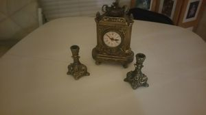 Clock and candle holders for Sale in Akron, OH
