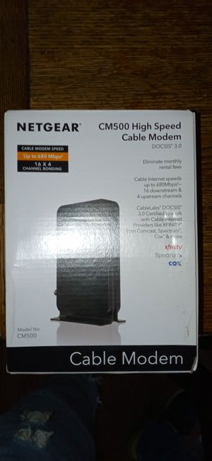 Netgear cm500 high speed cable modem for Sale in Washington, DC